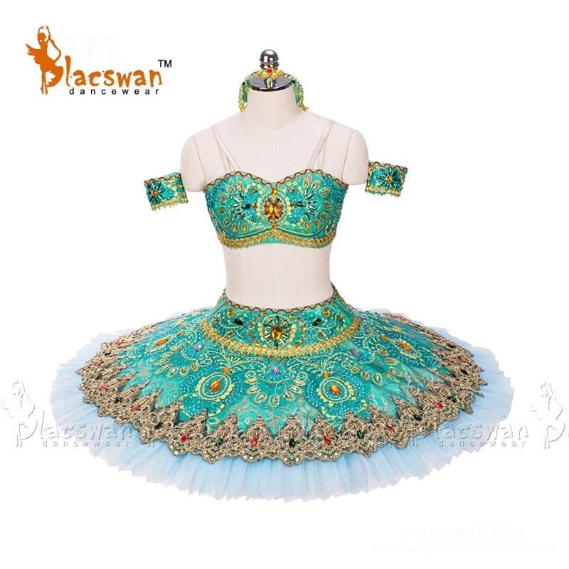 Tutú de Ballet clásico BT694 La Bayadere verde para adultos profesional de Ballet clásico para adultos de rendimiento tutú para Ballet clásico niños