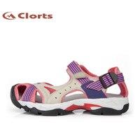 Clorts 여성 샌들 비치 신발 빠른 건조 여름 신발 PU 아쿠아 물 신발 넘어