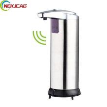 Мыло диспенсер Батарея питание 400 мл настенный Автоматическая ИК Сенсор touch-Бесплатная Кухня Мыло лосьон насос для Кухня Ванная комната