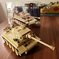 995Pcs German King Tiger Tank Building Blocks Compatible LegoINGs Military WW2 Army Soldiers model DIY Bricks Toys for Children