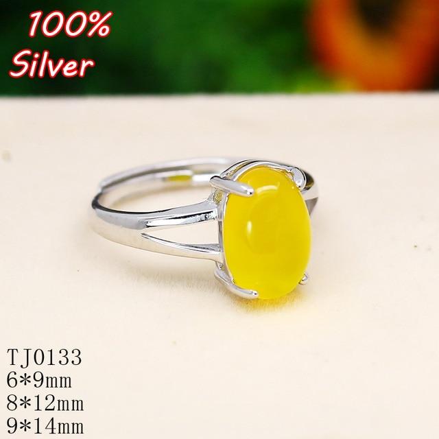100 925 Sterling Silver Jewelry Oavl Ring Blank Fit 6 9