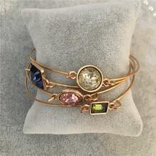 Модный Цветной Розовый Синий Зеленый тонкий браслет