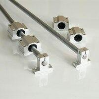 2pcs OD 10mm 300/400mm Shaft Rod Optical Axis + 4PCS SK10 Linear Rail Shaft Support + 4pcs SCS10UU Linear Bearing Blocks