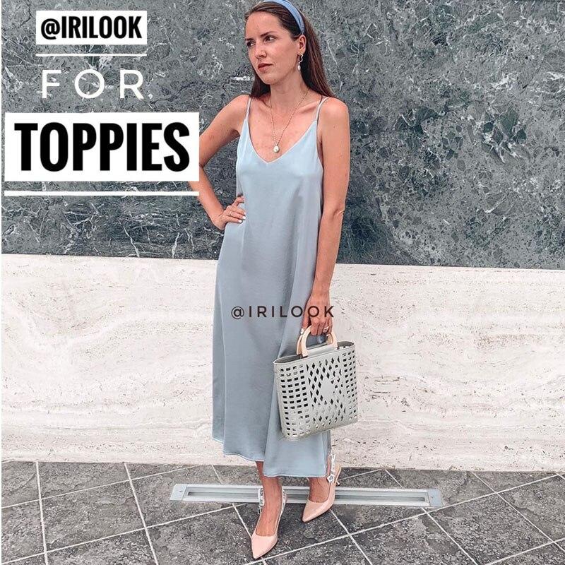 Satin Dress Imitation-Silk Shiny Vintage Korean-Fashion Summer Luxury