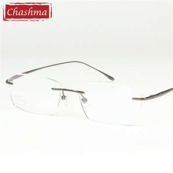 8d2e53e7d3 Cashma marca gafas montura hombres gafas mujeres óptico sin montura titanio  gafas marco para prescripción