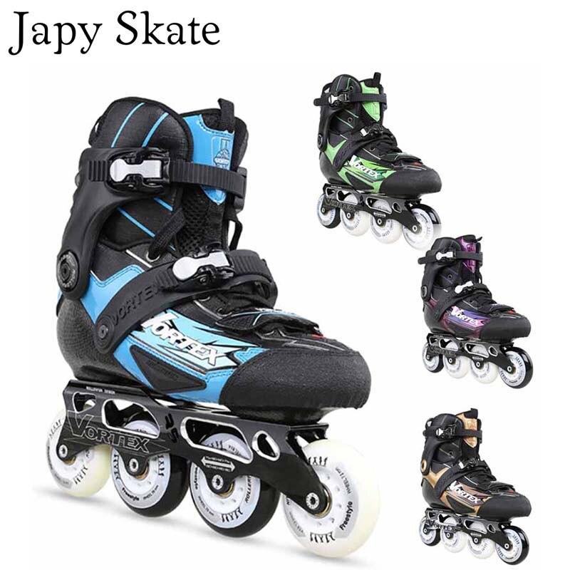 Prix pour Jus japy Skate N5 Ligne En Fiber De Carbone Patins Professionnel Adulte Chaussures Roller Slalom Livraison De Patinage Bonne Qualité Comme SEBA