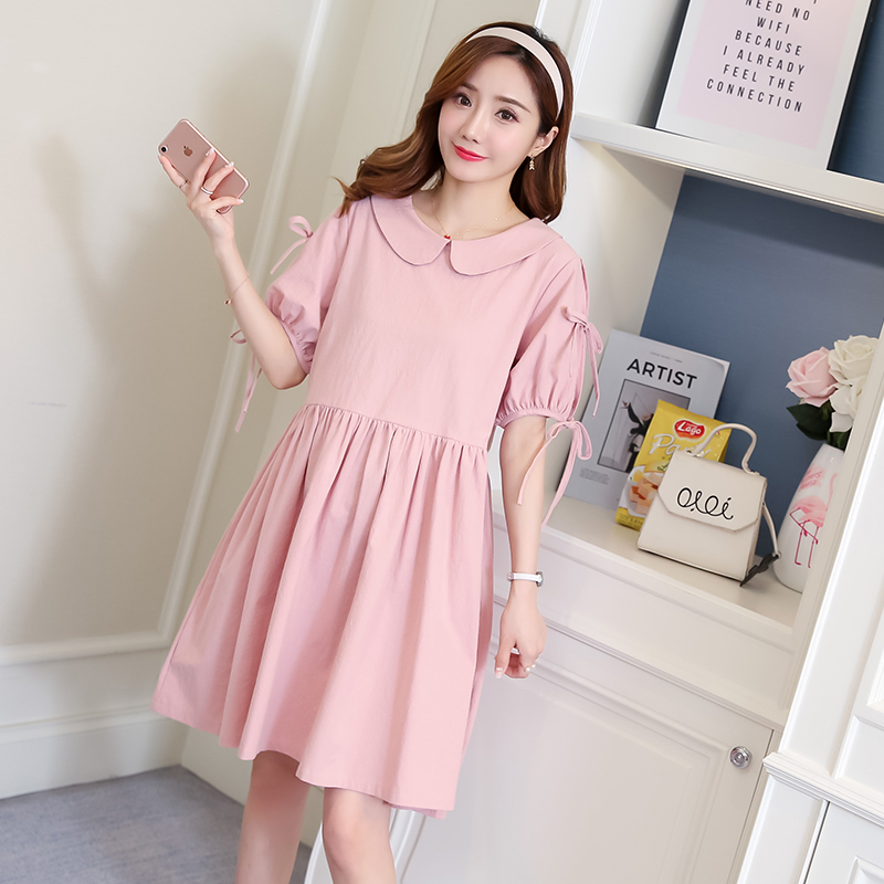 Maternity Clothes Solid Novelty Patchwork Pregnancy Dress Fashion Maternity Clothing Of Pregnant Women Cotton Vestidos