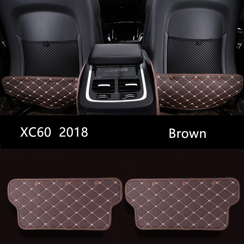Us 32 04 11 Off Leather Black Car Seat Backrest Anti Kick Pad Brown Car Interior Anti Dirty Mat Protection Pad For Volvo Xc60 2018 In Interior