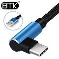 EMK 90 grad USB Typ C Kabel USB-C Kabel Typ-C Schnelle Ladekabel für Nintendo Schalter Samsung S8 oneplus 5 Pixel 2 0,3 mt 1,2 mt