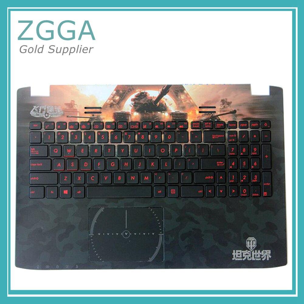 все цены на Genuine Laptop Upper Case For ASUS GL552 GL552JX GL552VW GL552VX Palmrest Keyboard Bezel Cover Classical Tank Plane Pattern