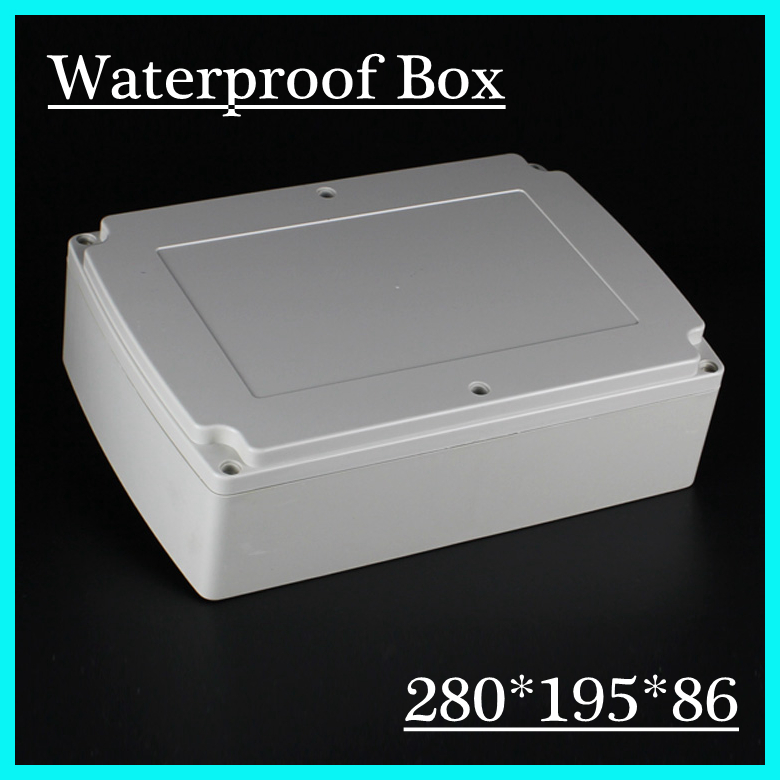 Supply 280*195*86mm Large Size Waterproof Enclosure ABS Plastic Junction Box Top Quality Gauge Box Plastic Meter Box 4pcs a lot diy plastic enclosure for electronic handheld led junction box abs housing control box waterproof case 238 134 50mm