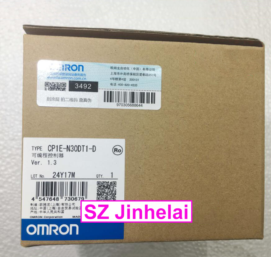 New and original OMRON CP1E-N30DT1-D PLC controller 100% new and original cp1e e10dr d cp1e e10dt a cp1e e10dt d omron programmable controller