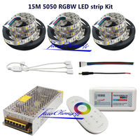5M 10M 15M To 20M DC12V LED Strip RGBW 5050 Flexible Tape 2 4G RF Controller