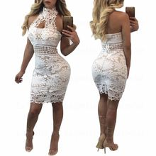 Laipelar Elegant Lace Dresses 2018 Winter Women Fashion Sexy Bandage Backless Nightclub Party Mini Vestidos