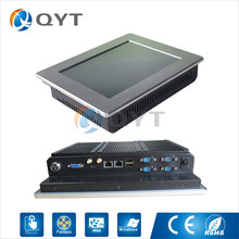 Embedded panel pc IR touch N2807 1.6GHz Resolution 800×600 10″ industrial computer 2GB DDR3 32G SSD 2RJ45,4RS232