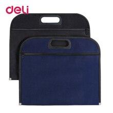 File-Bag Portfolio Briefcase Business-Office Zipper A4 Deli Thick B4 1pcs Canvas 340--305mm