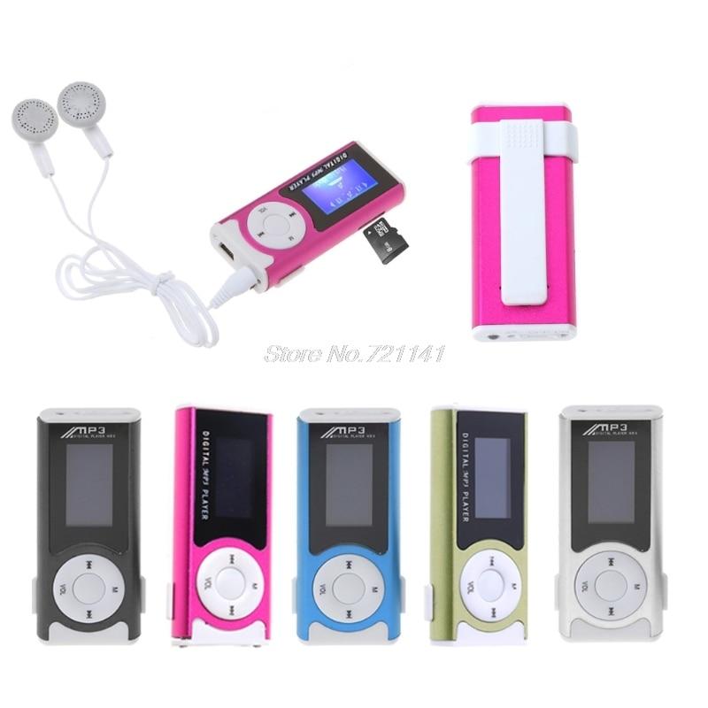 Mini USB Aluminum LCD Screen 32GB Micro SD TF Card Clip Design Digital Music MP3 Player Electronics Stocks