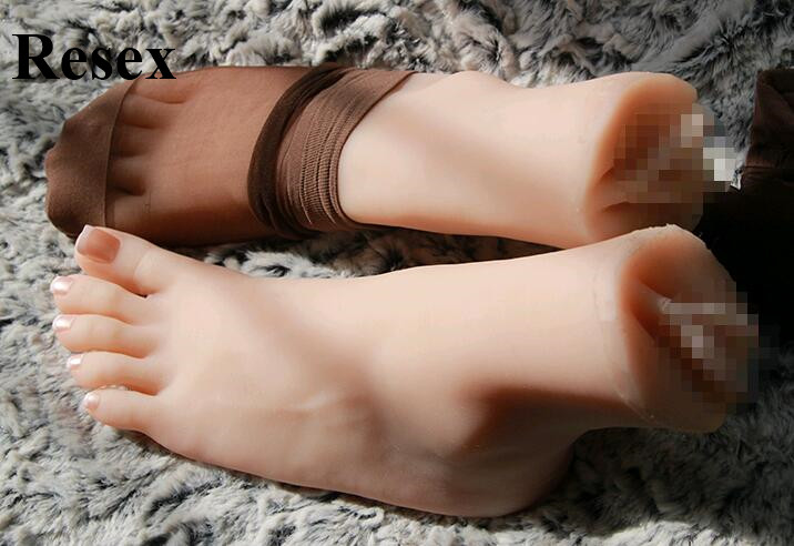Sex Toys Hot Mannequin Foot Japanese Masturbation Full Silicone Life Size Fake Feet Model Foot Fetish Toy Sexy Toys Love Doll