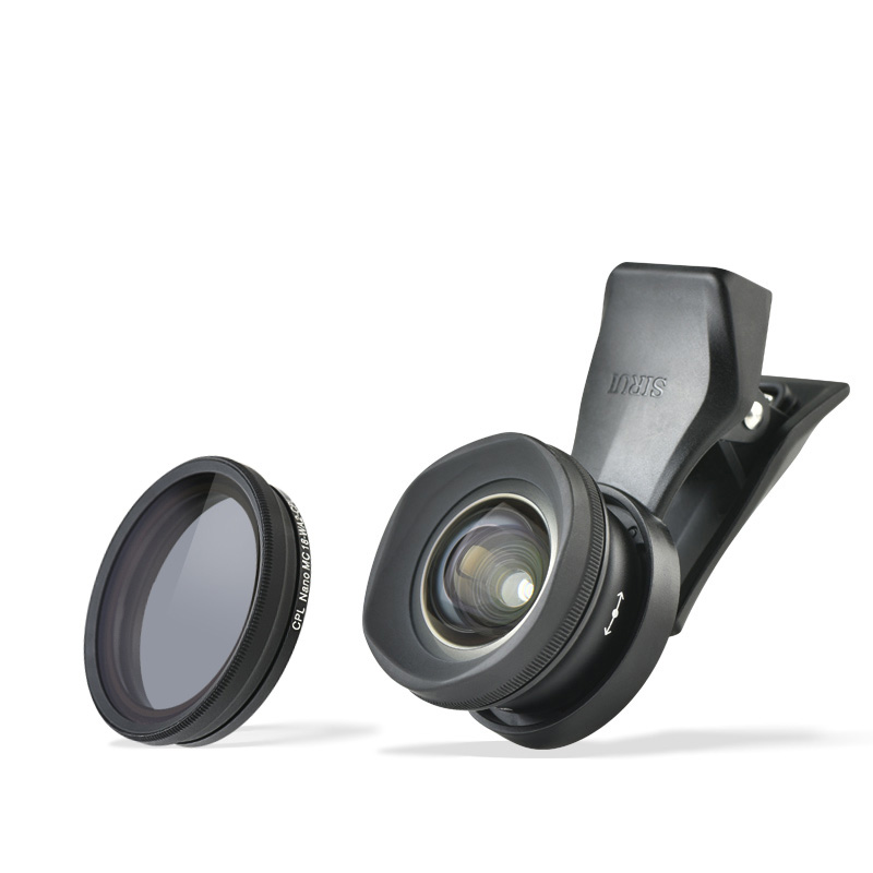 SIRUI 18mm Wideangle lens with 18-WA2 CPL filter Mobile Phone Auxiliary Lens + Universal clip kit mobile phone