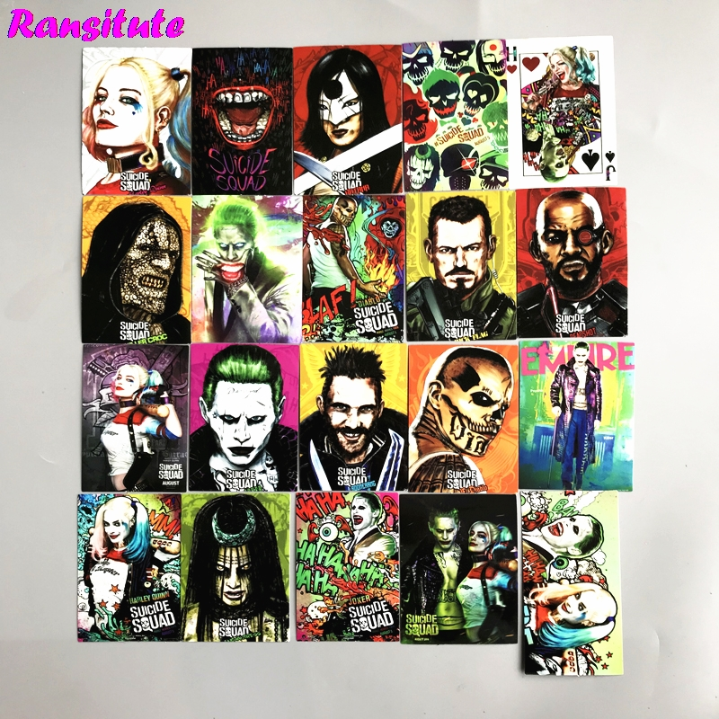 R150 20pcs/set Suicide SquadPVC Waterproof Fun Sticker Toy Luggage Sticker Motorcycle And Luggage Notebook Sticker