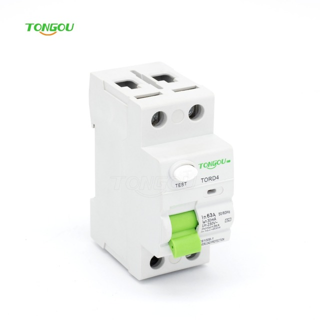Lovely RCCB RCD 2P 63A 30mA 110V 220V AC Magnetic Type Residual Current Circuit  Breaker TORD4