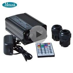 Цветной волоконно-оптический двигатель Maykit, 32 Вт RGBW Светодиодная лампа с многоцветным меняющим эффектом для рождественского декора