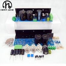 Hi end 1969 classe a amp de 4 pces mj15025 2 pces mj15024 hd1969 amplificador de potência kits diy completou a placa com dissipador de calor