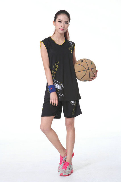 298b1ea96 P0476 lover design basketball jersey set basketball suit female women girl  baskeetball jersey set black blue yellow