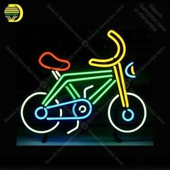 세발 자전거 네온 라이트 로그인 네온 사인 실내 네온 램프 리얼 글라스 튜브 맥주 펍 스토어 디스플레이 공예 아이코닉 사인 맞춤형
