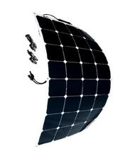 Marine RV yacht boat semi flexible solar panel 100W for suit for 12V rechargeable battery sunpower