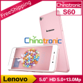"Original Lenovo S60 S60W Android 4.4 Mobile Phone MSM8916 64bit Quad Core Dual SIM FDD LTE 5.0""HD 2G RAM 8G ROM 13.0MP"