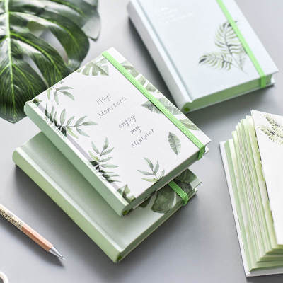 Blank Diary Monstera Notebook Office School Supplies Gift Bandage Thicken Student Notepad Blank Pocket Notebook Green Leaf 1 pcs large leaf leaf travel notebook bandage handbook book aesthetics paper core replace student home school office gift