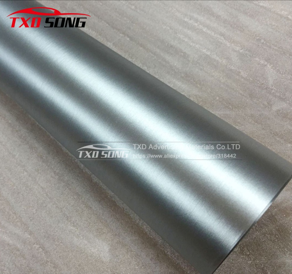 Silver metallic matte chrome wrap vinyl film with air free bubbles with size:1.52*20M/Roll by free shipping