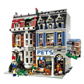 2017 New LEPIN 15009 2082Pcs City Creator Pet Shop Supermarket Model Building Kits Figures Blocks Bricks Compatible Toys 10218