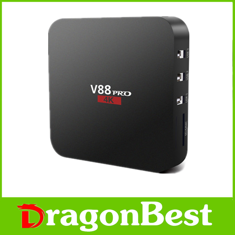 new V88 PRO TV Box Amlogic S905X Quad Core font b smart b font tv KODI