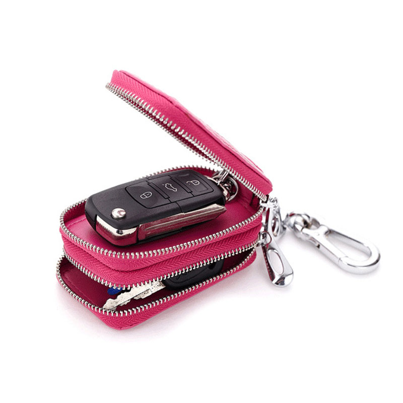 Wholesale Women And High Quality Key Wallets Car Key Home Key Bags Genuine Leather Hang On The Waist Safety Hardwear Durable in Key Wallets from Luggage Bags