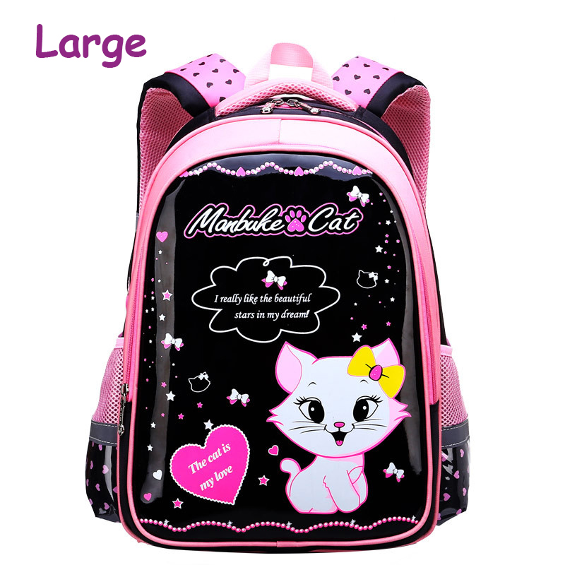 New Children School Bags For Girls School Backpacks Cartoon Cat Bookbags Kids Backpack Girls Knapsack mochila infantil menino