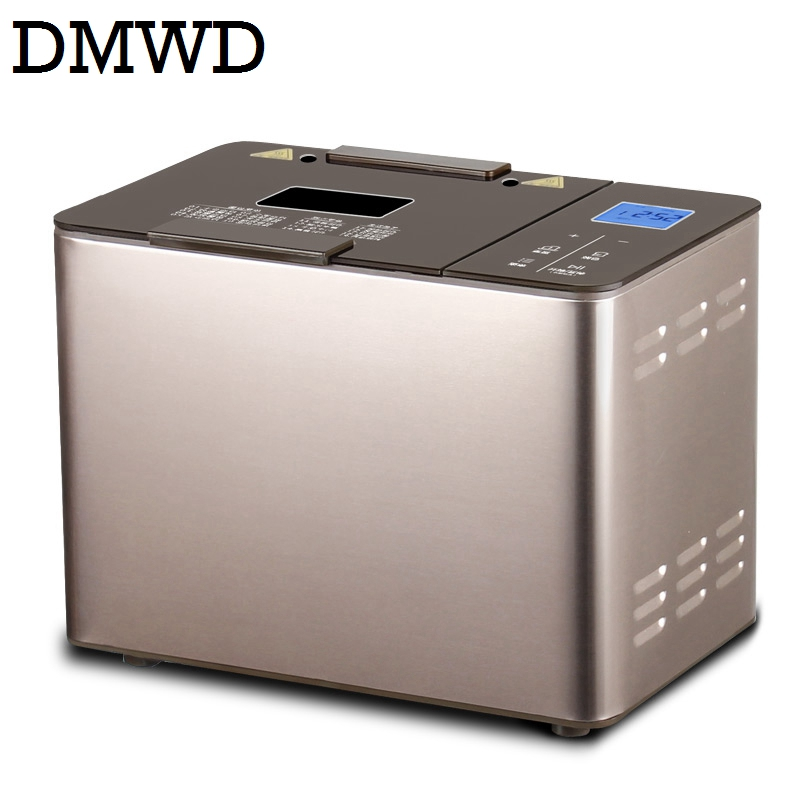 DMWD Stainless steel intelligent baking Bread Maker toaster automatic hosehold Breadmaker cake yogurt making machine dough mixer dmwd mini household bread maker electrical toaster cake cooker 2 slices pieces automatic breakfast toasting baking machine eu us