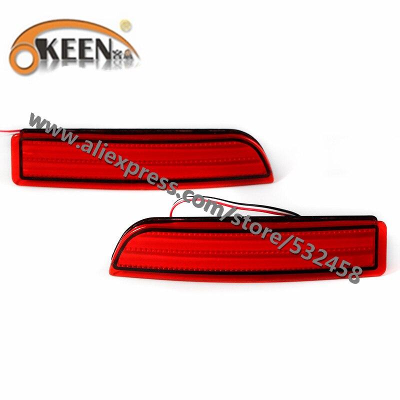 OKEEN Brand Automobiles LED Rear Lihgts Car Tail Rear Bumper Reflector Lights Brake Light Lamps For RAV4/PREVIA/alphard 2010 ...