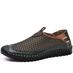 Image 4 - Mocassins en maille respirante pour hommes, nouvelles chaussures dété, confortables et souples, Zapatos Hombre, taille 38 48, chaussures pour hommes