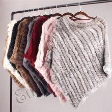 ETHEL ANDERSON Real Fur Knitted Rabbit Fur Poncho Vest Vest