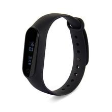 Xiaomi mi banda 2 de fitness inteligente podómetro pulsera/muñequera pulsómetro xiaomi 20 días en espera de banda inteligente con correa