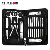 15 in 1 Insieme di Manicure Professionale Nail Clipper Kit Utility Pedicure Forbici Pinzette Knife Ear Scegliere Nails Art Strumenti di Bellezza set