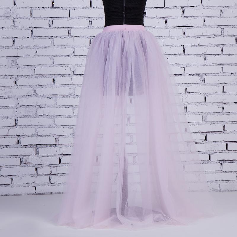 b4ee0f8a065103 2019 4Layers Black Overlay Skirt Fashion Long Tutu Tulle Skirt Bride ...