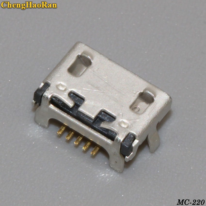 ChengHaoRan <font><b>5</b></font>-200pcs mini Micro USB Charging Socket Port Jack connector for Lenovo TAB <font><b>2</b></font> A10-<font><b>70</b></font> A7600 A3000H 10.1