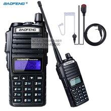 Sıcak Taşınabilir Baofeng UV-82 Iki yönlü Telsiz Radyo Walkie Talkie CB Ham Radyo amatör + Radyasyondan Korunma Kulaklık UV82