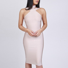 INDRESSME 2018 Fashion Bandage Dress For Women Off Shoulder Backless Bodycon Sexy Club Dress Lady