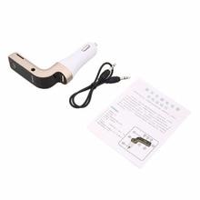 Bluetooth inalámbrico 87.5-108.0 MHZ 3.5mm AUX Audio Cable Transmisor LCD Auto Car MP3 Reproductor de Música de Reproducción