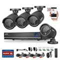 SANNCE 4CH CCTV System 1080P HDMI Output Video Surveillance DVR KIT with 4PCS 1280TVL 720P Home Security Camera System