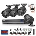 Sannce 4ch cctv sistema 1080 p hdmi de salida de video vigilancia dvr kit con 4 unids 1280tvl 720 p seguridad para el hogar sistema de cámara
